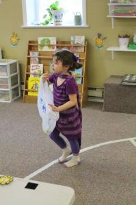 Gracia loved the on-campus pre-school she attended while we were in our classes.