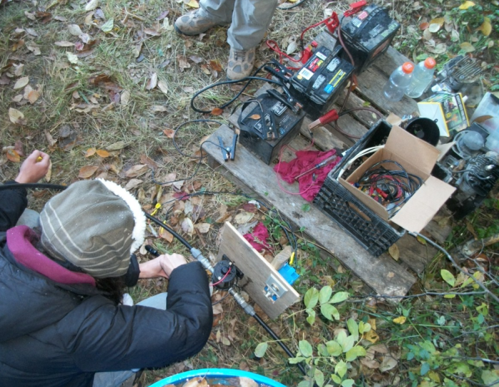 We still had classes during the camp out, like generator troubleshooting...