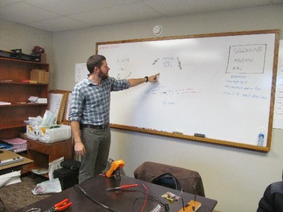 Cameron even got to help teach the basic tech course.