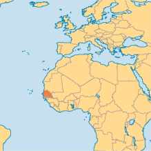 The country of Senegal, where we'll spend our first couple of years in West Africa.
