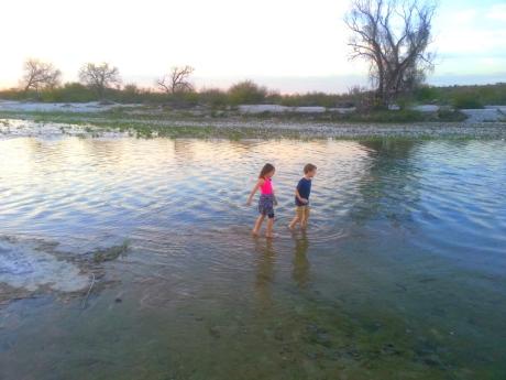 Enjoying the rio San Rodrigo outside of El Remolino Mexico